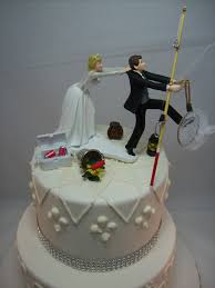 wedding cake toppers and groom no fishing come back wedding cake topper and groom