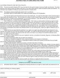 california advance directive form download free u0026 premium
