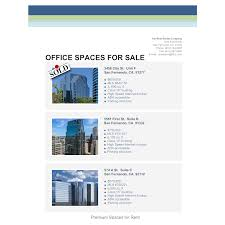 real estate flyer examples office space real estate flyer