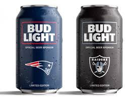 bud light aluminum bottles nfl bud light unveils nfl can designs
