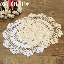 decorative crafts for home round retro crochet lace doilies floral placemat coasters home