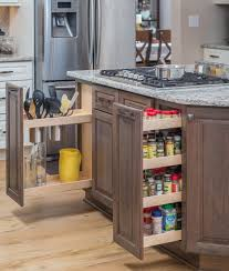kitchen pull out spice rack pots and pans storage ideas