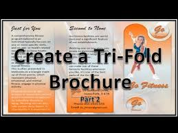make brochure make brochures with microsoft powerpoint 2010