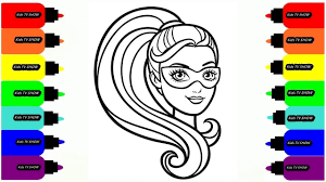 barbie cartoon coloring coloring pages for girls drawing for