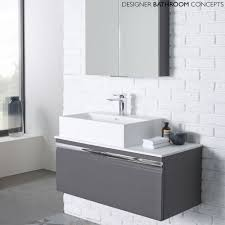 High Gloss Bathroom Furniture Grey Gloss Bathroom Vanity Unit Together With Appealing Photos As