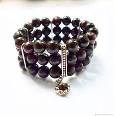 garnet bracelet images Garnet bracelet bangle 3 row shop online on livemaster with jpg