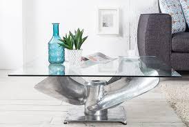 tableau verre transparent pour ecrire table basse design en aluminum et verre transparent hélice 85 cm