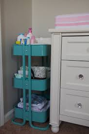 Diaper Organizer For Changing Table Baby Nursery Nursery Essential Organizer In Baby Room Blue