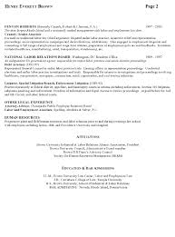 Resume Template For Lawyers Resume Sle 7 Attorney Resume Labor Relations Executive