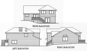 split level homes plans split level home plan for narrow lot 23444jd architectural