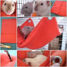 Hamster Bed Diy Hamster Fleece Hammock Diy Pets Projects Pinterest