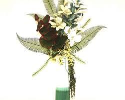 Silk Flower Arrangements For Dining Room Table Handmade Tropical Decor Large Silk Flower Arrangement Floral Home
