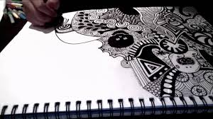 doodle with random sharpie doodle