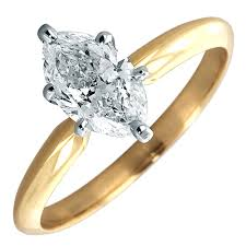 solitaire rings gold images Marquise diamond solitaire ring in 14kt yellow gold 7 8ct jpg