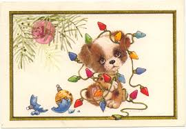 dog christmas cards a tangled puppy dog christmas card marges8 s