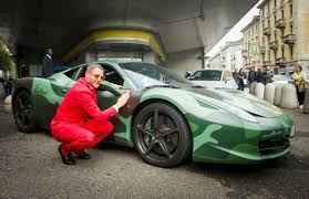 camo ferrari this fast living fiat heir has built the ultimate exotic custom