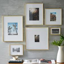 West Elm Pictures by Gallery Frames Polished Brass West Elm Uk