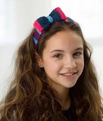 headband across forehead sassy striped crochet headband allfreecrochet