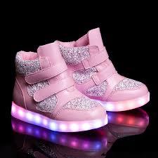 big kids light up shoes 2016 new kid s shoes led luminous shoes usb charging pink big