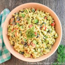 Creamy Pasta Salad Recipes by Creamy Avocado Bacon Pasta Salad With Dill Dressing Serena Bakes