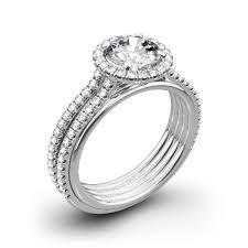 danhov engagement rings danhov ue103 unito two tone engagement ring whiteflash