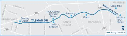 Bart Station Map by Tasman Drive Complete Streets Corridor Study