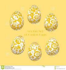 pale yellow easter egg decoration vector illustration stock