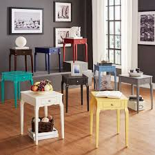 Side Tables For Living Rooms Bold Accent Single Drawer Side Table Free Shipping Today