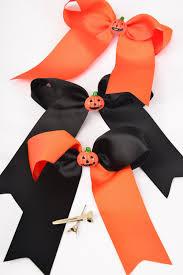 halloween bow ties hair bow large tail halloween pumpkin charm long tail grosgrain