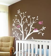 pochoir chambre bébé chambre enfant déco chambre bébé pochoir arbre oiseaux déco
