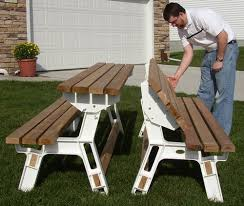 Picnic Table Plans Free Large by Bench Best Large Hardwood Picnic Table Set About Plan Folding Free
