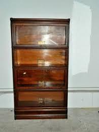 Globe Wernicke Bookcase 299 Antique Gunn Lawyers Barrister Desk U0026 Sectional Bookcase Secretary