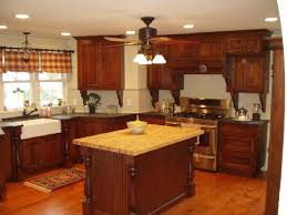 Augustjpg - Rustic cherry kitchen cabinets