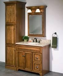 Bathroom Vanity With Linen Cabinet Quarter Sawn Oak Mission Style Vanity U0026 Matching Linen Cabinet