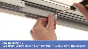 how to install bali solar roller sliding panels inside mount