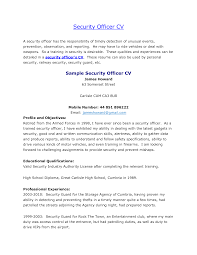 Examples Of Resumes Best Security by Download Security Guard Resume Objective Haadyaooverbayresort Com