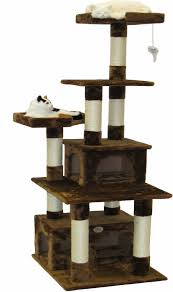 Cat Furniture Gopetclub 67 Inch Cat Tree Brown Chewy Com
