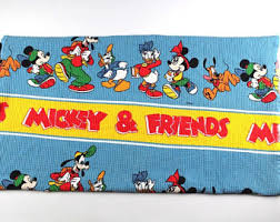 vintage mickey mouse blanket etsy
