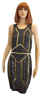 sexiest new years dresses miller black gold women s black gold silk beaded mid length