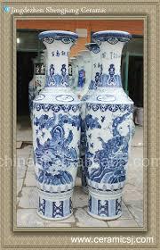 White Ceramic Floor Vase Floor Vase Jingdezhen Shengjiang Ceramic Co Ltd Jingdezhen