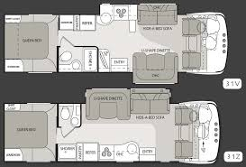 Motorhome Floor Plans Four Winds Serrano Class A Motorhome Floorplans Large Picture