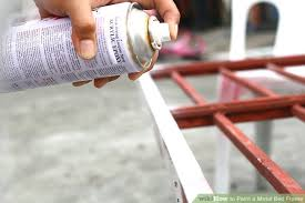 Paint Metal Bed Frame How To Paint A Metal Bed Frame With Pictures Wikihow