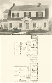 colonial home floor plans 1920s vintage home plans colonial revival the washington
