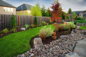 landscaping designs landscape traditional with river rock