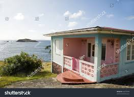 Shed Style Architecture Typical Colorful Caribbean Style House Bequia Stock Photo 42555076