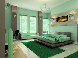 bedroom interior blue color schemes with green utilization to
