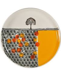 ceramic serving platters amazing deal large ceramic serving platter with orange and yellow