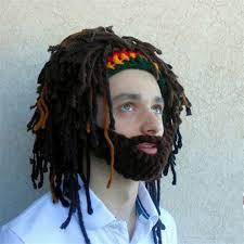 Bearded Halloween Costume Aliexpress Buy Wig Beard Hats Rasta Bandana Dreadlocks