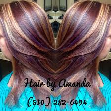 mahogany red hair with high lights best 25 violet highlights ideas on pinterest red violet