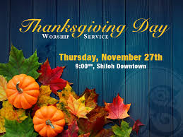 shiloh church thanksgiving day service